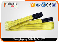 3 Ton Yellow Polyester Flat Webbing Sling Industrial Rigging Straps From 1m to 12 m