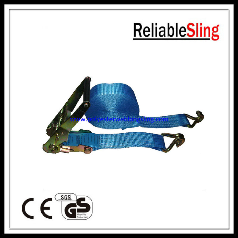 Heavy duty 2 Inch 4000kg Winch / wheelchair tie down straps , Cam Buckle Straps