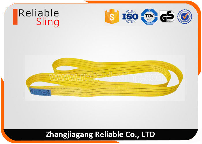 Color Code 100% PES Endless Webbing Sling With Shrink Flim Packing