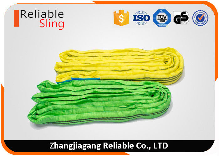 1 ton- 10 ton PES Material Portable Soft Round Lifting Sling Belt