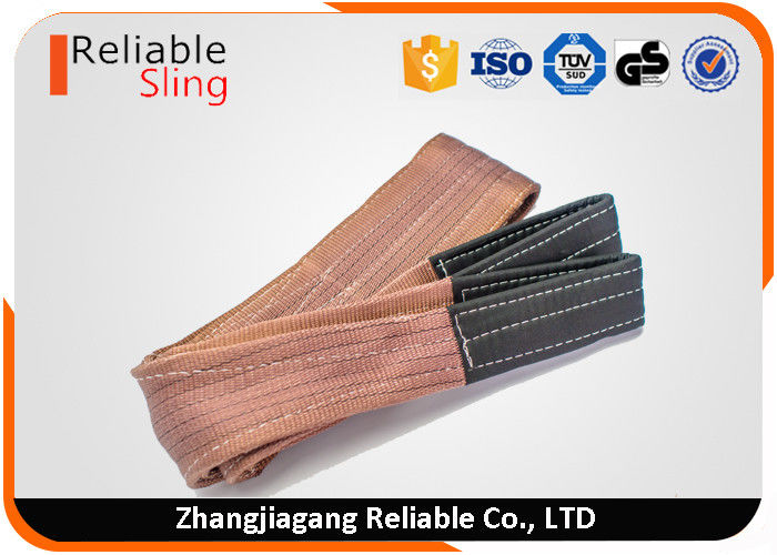 EN Standard Duplex Flat Webbing Sling High Tenacity Polyester With Soft Eyes