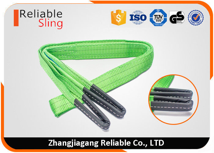 Color Code Flat Webbing Sling Polyester Eye And Eye Sling Double Ply Lifting Strap