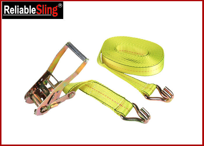 Heavy Duty Strong Capacity Car Tie Down Ratchet Straps J Hook Cargo Lashing Belt