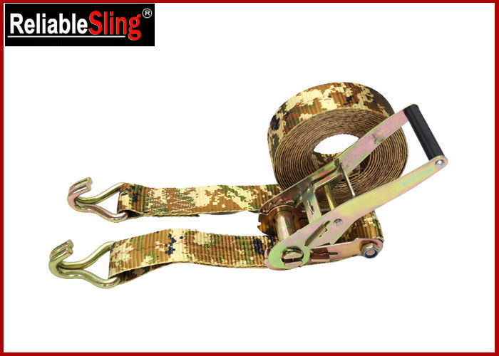 OEM Quick Release Polyester Ratchet Tie Down Strap With Ratchet Buckle