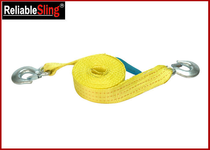 50mm Width Polyester Heavy Duty Tow Straps with Safety Hooks for Jeep Truck Car